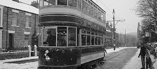 Trams brave the snow!