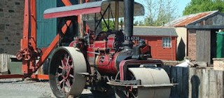 'Out and About' with traction engine and steam roller