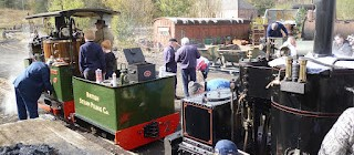 Narrow Gauge morning preparations...