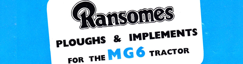 Ransomes MG6 Implements Catalogue