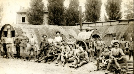 Rare photograph of a WW1 Thresh Disinfector...