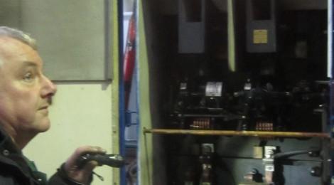 Tram depot wiring upgrade in progress...