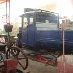 A more unfamiliar view of the Daimler, showing the cab rear and headstock.