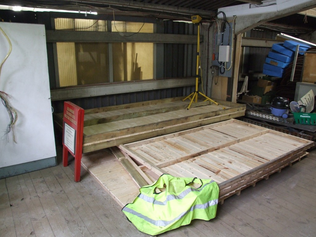 The site of the original exchange room on the mezzanine floor at the back of the tram shed.