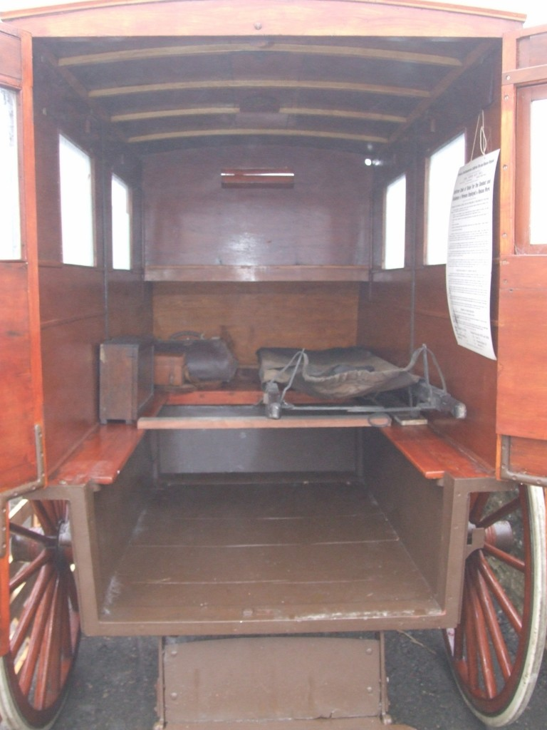 Also making an outing for the opening was the Browney Colliery, horse drawn Ambulance