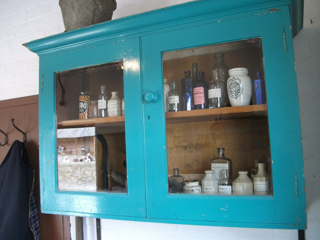 Medicine cabinet with necessary equine medicaments
