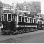 Trams 18 and 67 at Central Station 09/04/50