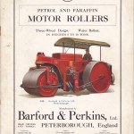 Barford T Series catalogue cover May 1929.  Note red livery, black bonnet and alloy radiator.