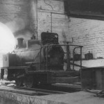 Granton Gas Works Barclay No.5 11/06/1950 Note dismantled locomotive to the right.