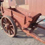 Beamish heavy duty horse drawn stone cart with removable greedy boards and tipping body