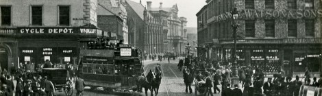Archive transport views of Newcastle City Centre...