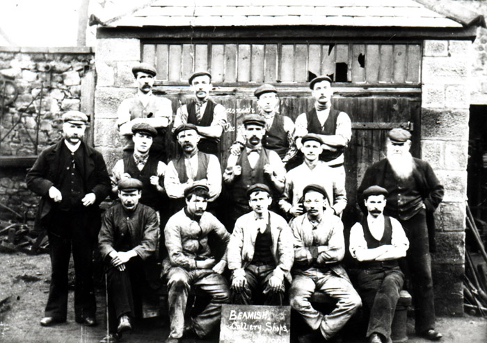 Beamish 2nd Pit, 1902, Workshop and Staff