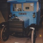 Daimler CK BK 8794 as restored into its original livery of J. Stride & Sons.  Photo taken from the auction literature at its sale in 1991.