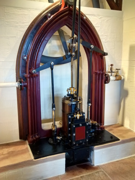 The engine with its Crowther motion, similar to that of our 1855 Colliery Winding Engine