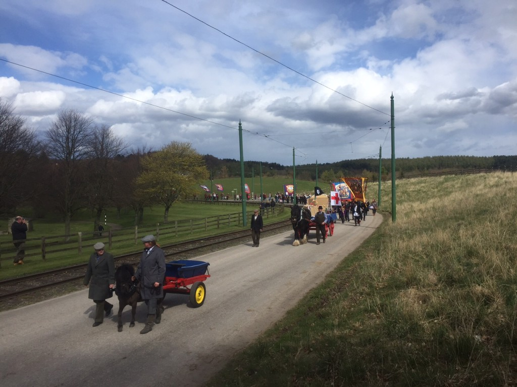 The parade, headed by Marley the Pit Pony