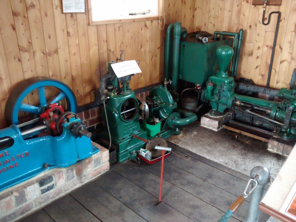 The pump, on the right, being the only non resident pump from the stations working days