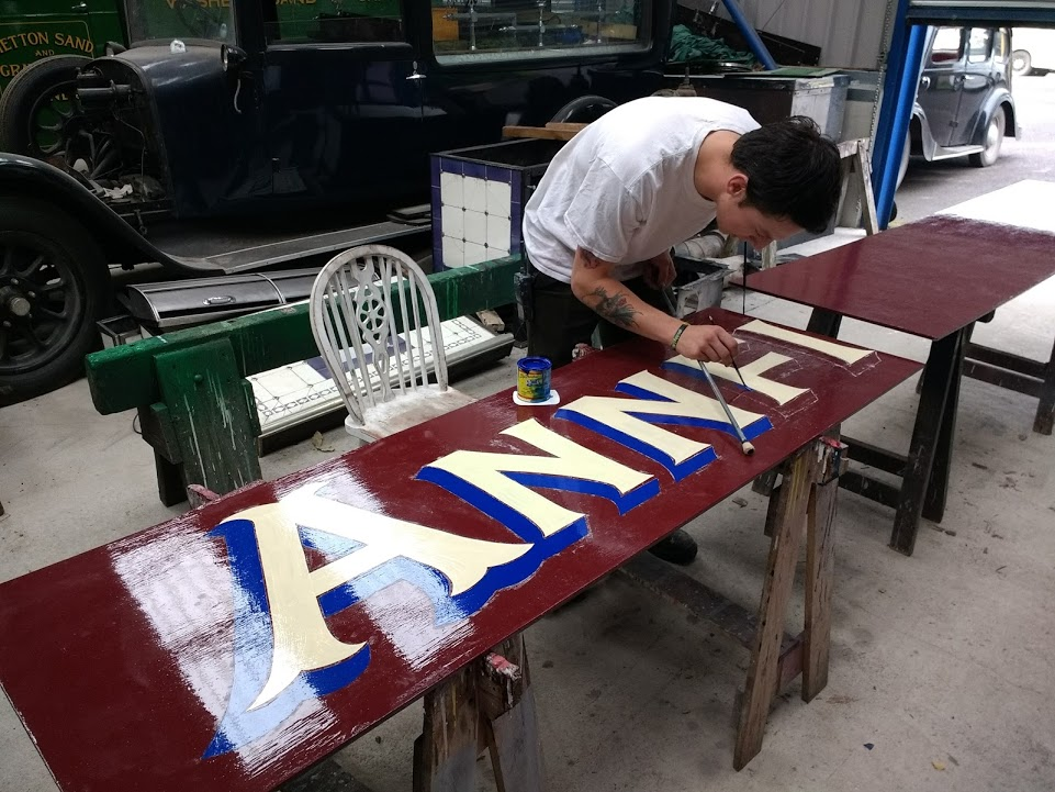 Ryan adds the lettering