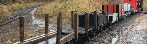 Great North Steam Fair preparations - narrow gauge railway